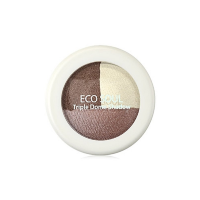 The Saem Triple Dome Shadow BR01 Accomplished Brown
